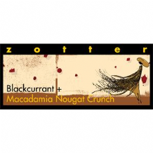 Zotter Blackcurrant And Nougat Crunch 70g